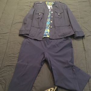 INC International blue pant suit